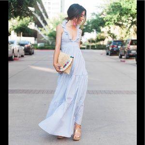 Adorable ruffle neck maxi dress! NWT